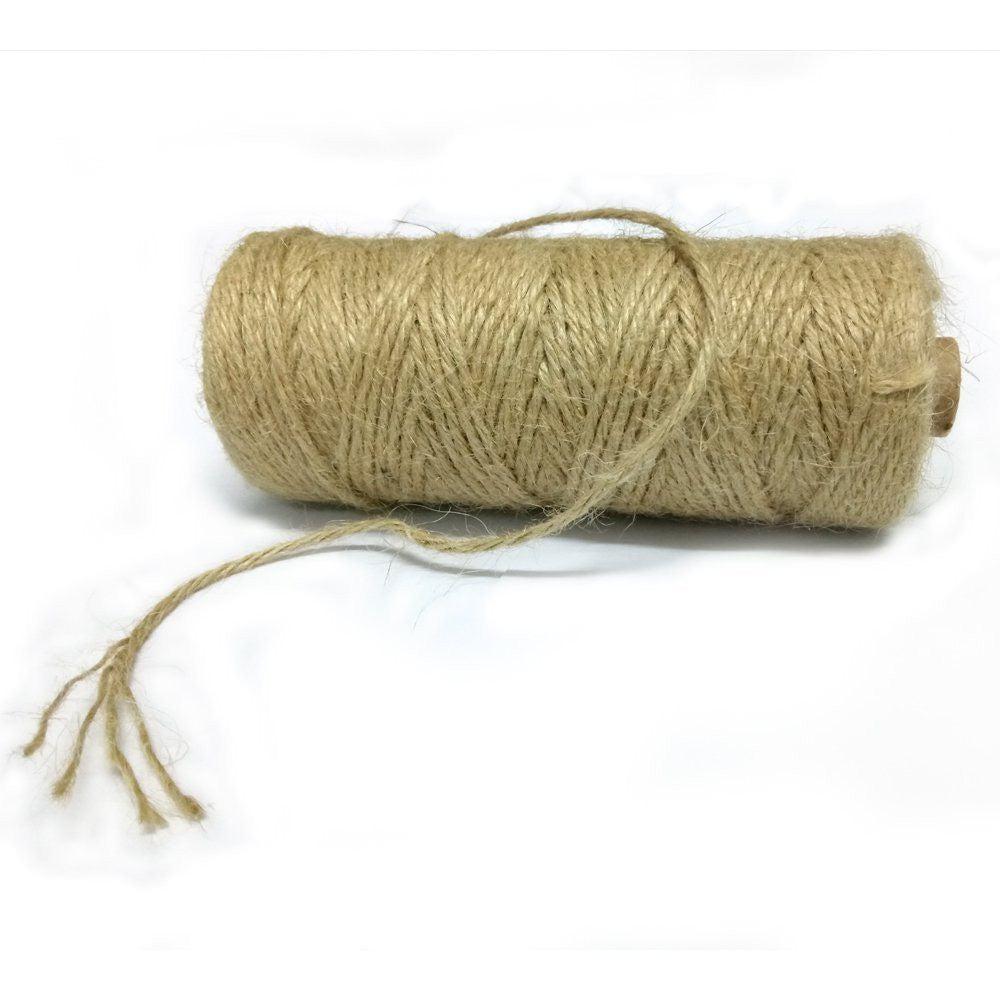 Natural Jute Twine for Crafts, 3 mm x 328 Feet Gift Wrapping Twine, 4 Ply Jute Rope Twine for Arts & Crafts, Home Decor, Gift Packaging - G2plus