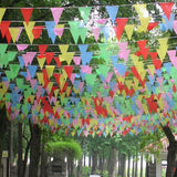 125 Feet Multicolor String Banners Nylon Fabric Pennant Bunting Flags 8'' x 11'' for Festival Party Celebration Events Decorations (GG58001) - G2plus