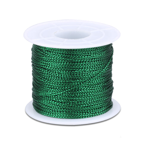 100M Metallic Cord Jewelry Thread Craft String Lift Cord for Wrapping,Braiding and Craft Makin