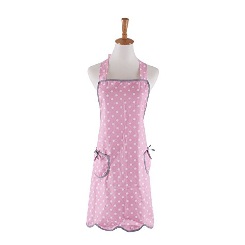 Cotton Aprons for Women with 2 Pockets, Polka Dot Apron, Great for Home Cooking, Baking, Gardening (Adult Women)