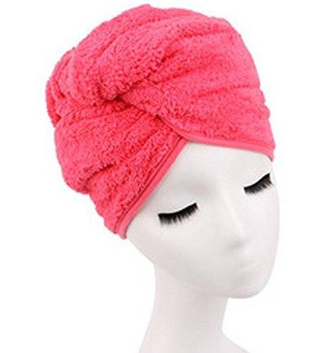 Microfiber Hair Towel for Women, Fast Drying Hair Towel Wrap with Button (Peachblow - G2plus