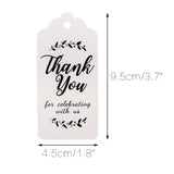 Original Design Thank You for Celebrating with Us Tags, 100PCS Paper Gift Tags with 100 Feet Natural Jute Twine Perfect for Wedding,Baby Shower and Party Decoration (White) - G2plus