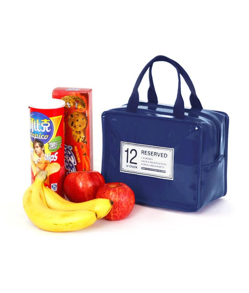 Lunch Bag with Zipper, G2PLUS Waterproof Insulated Cooler Tote Handbag, Travel Zipper Organizer Box Tote Bag Lunch Tote for Men and Women, Teens, and Kids (Dark Blue) - G2plus