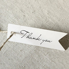 Thank You Tags, G2PLUS 100 PCS 'Thank you' Printed Christmas Tags, Paper Hang Tags for Wedding Favors Paper Gift Tags - G2plus