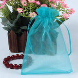Organza Gift Bags with Drawstring 5'' x 7'', G2PLUS 100 PCS Organza Jewelry Bags, Sheer Drawstring Gift Pouches for Christmas Wedding Party Favors (Lake Blue) - G2plus