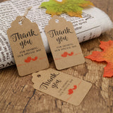 Original Design Thank You for Sharing Our Special Day - Bridal Wedding Gift Tags 100PCS Baby Shower Tags with 100 Feet Twine for DIY & Gift Wrapping (Brown) - G2plus
