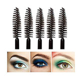 G2PLUS 100 PCS Black Eyelash Brushes Mascara Wands Disposable Eyebrow Castor Oil Brush Makeup Tool - G2plus