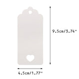 Valentine's Day Gift Kraft Paper Tags 100 PCS Luggage Tags Labels 4.5 cm * 9.5 cm Labels with 30 Meters Jute Twine (White) - G2plus