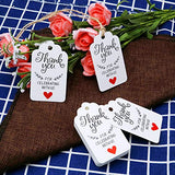 Original Design Thank You for Celebrating with Us Tags,100PCS 7cm X 4cm Paper Gift Tags with 100 Feet Natural Jute Twine Kraft Hang Tag for Wedding Party Favors, Baby Shower Decorations (White) - G2plus