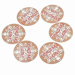 100 PCS Kraft Paper Christmas Gift Tags with 100 Feet Natural Jute Twine String (Merry Christmas Snowflake) - G2plus