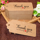 Thank You for Celebrating with US,Original Design Kraft Paper Tags,100PCS Brown Tags Perfect for Baby Shower, Wedding and Party Favor - G2plus