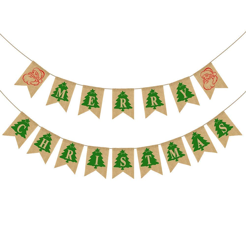 Christmas Banner,Merry Christmas Banners Xmas Banner for Happy Christmas Decoration, Christmas Party Photo Prop Supplies - G2plus