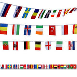International Flags, G2PLUS 164 Feet 8.2'' x 5.5'' World Flags, 200 Countries Olympic Flags Pennant Banner for Bar, Party Decorations, Sports Clubs, Grand Opening, Festival Events Celebration - G2plus