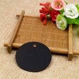 G2PLUS Round Gift Tags, 100 PCS Black Paper Labels, 5.5 cm Blank Hang Tags with 30 Meters Jute Twine, Perfect Hang Tag for Art & Craft Project - G2plus