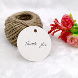 G2PLUS Round Gift Tags, 100 PCS White Paper Labels, 5.5 CM Blank Hang Tags with 30 Meters Jute Twine, Perfect Hang Tag for Art & Craft Project - G2plus