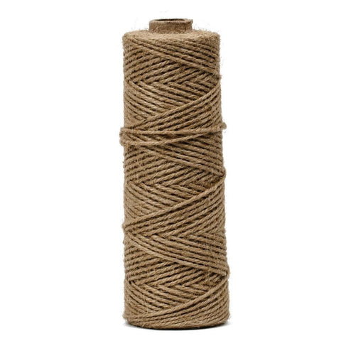 Elcoho 984 Feet Christmas Natural Jute Twine String Thread Natural Jute Rope Baker Twine for DIY Arts Crafts Gift Wrapping 3 Rolls