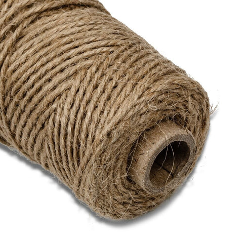 2 Pack Premium Jute Twine String 328/' All Natural Cord Rope Craft Decor Gift DIY