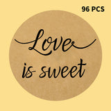 Original Design Wedding Stickers,96PCS Love is Sweet Stickers Labels Wedding Favor Labels, Wedding Treat Stickers,Anniversary Stickers - G2plus