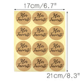 Original Design 96PCS His Favorite & Her Favorite Wedding Stickers, Round Sealing Labels for Invitation Envelopes for Wedding, Baby Shower, Party Supplies (Kraft Paper) - G2plus