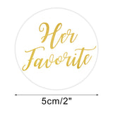 Original Design 96PCS His Favorite & Her Favorite Wedding Stickers, Round Sealing Labels for Invitation Envelopes for Wedding, Baby Shower, Party Supplies (Gold) - G2plus