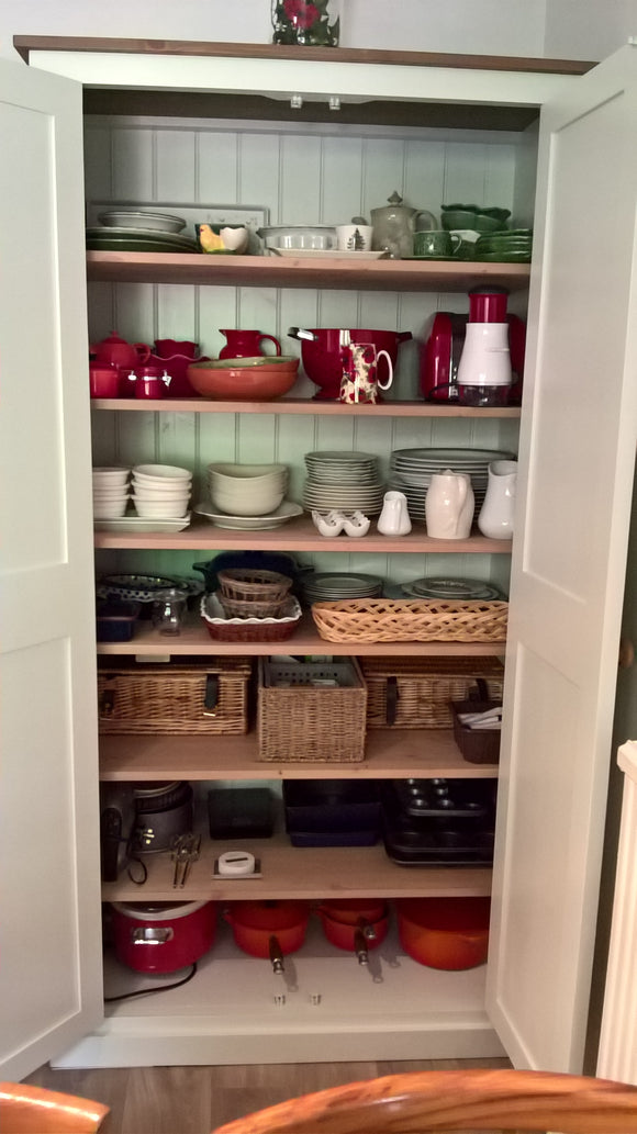 Kitchen, Craft, Utility,  Hall, Toys Storage Cupboard - Fully Shelved - 50 cm Deep