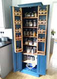 Kitchen Larder Pantry Cupboard (40 cm Deep) - Fully Shelved with Spice Racks - ALL SIZE VARIATIONS