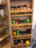 Larder Pantry Cupboard with Spice Rack & Drawer - Narrow 1 Door