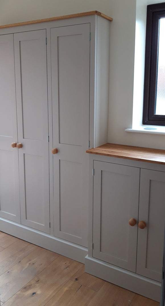 Coat and Shoe Storage Combination Cupboard - 2 metre long - Bespoke Service