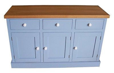 Solid Oak Top Sideboard 4'(122 cm)wide Farrow & Ball Painted