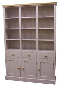 Display Storage Cabinet with 3 Drawers, 3 Doors and Adjustable Shelves (3 or 12 individual display sections)