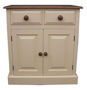 "Shaker Style 2'6"" Shallow Hall Sideboard - 2 Door 2 Drawer (13"" deep) - PAINTED"