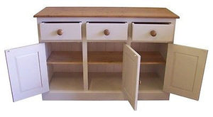 4' Sideboard (122 cm)wide Solid PINE or OAK Top