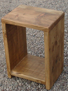 Reclaimed Timber LP Storage Unit Cube