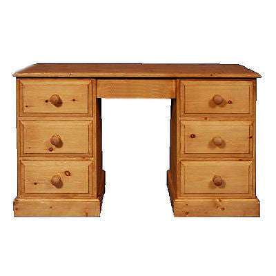 Double Pedestal 6 Drawer Dressing Table