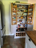 Kitchen Larder Pantry with 12 Bottle Wine Rack and Spice Racks (40 cm or 50 cm deep)