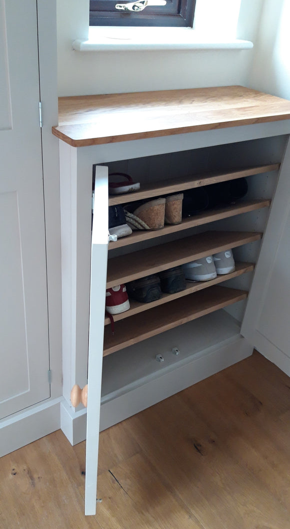 Shaker Style Low 2 Door Hallway Shoe Cupboard - to match our Tall Hall Cupboard (40 cm deep)