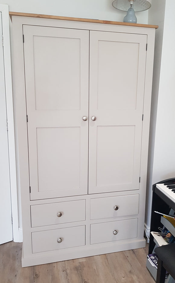 House Keepers Larder Pantry 2 Door with 4 Drawer Storage Cupboard - 40 cm Deep - wth SPICE RACKS