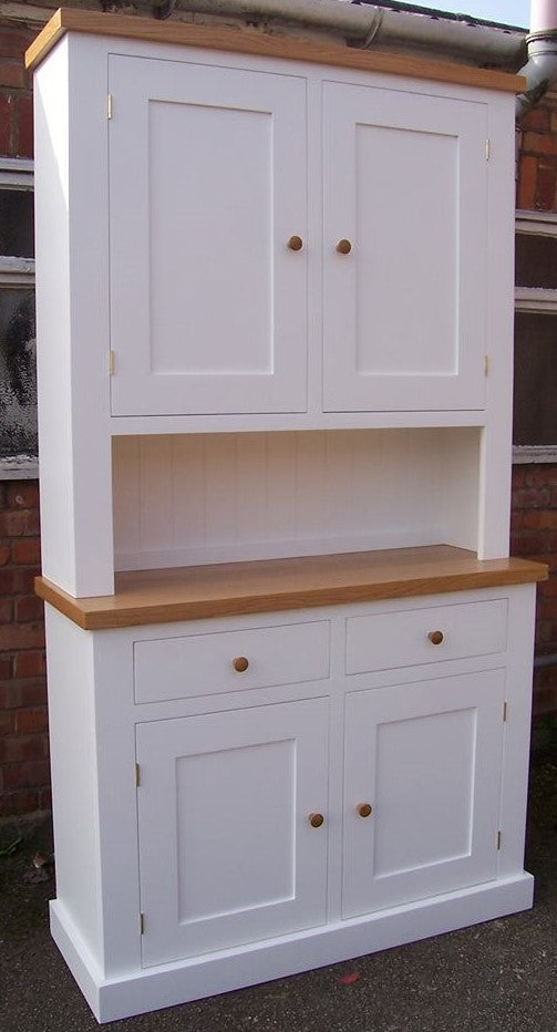 2 Door Top Cupboard on 2 Drawer over 2 Door Storage Cupboard Dresser