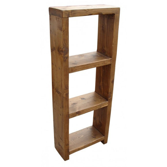 Solid Reclaimed Timber Floor Standing Open Cube Display Book Shelf