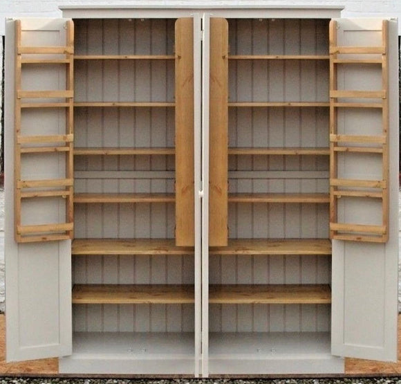 4 Door Larder, Utility Room, Kitchen Storage Cupboard with Spice Racks (50 cm deep)