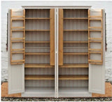 4 Door Larder, Utility Room, Kitchen Storage Cupboard with Spice Racks (40 cm deep)