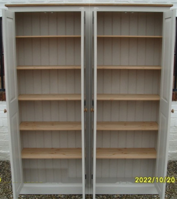 4 Door Hall/Larder Storage Cupboard for kitchen items, toys etc with Shelves (35 cm deep) OPTION 3