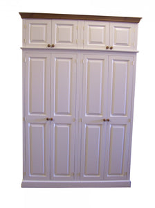 TRADITIONAL 4 Door Hall Coat & Shoe Storage Cupboard with Extra Top Storage (35 cm deep)