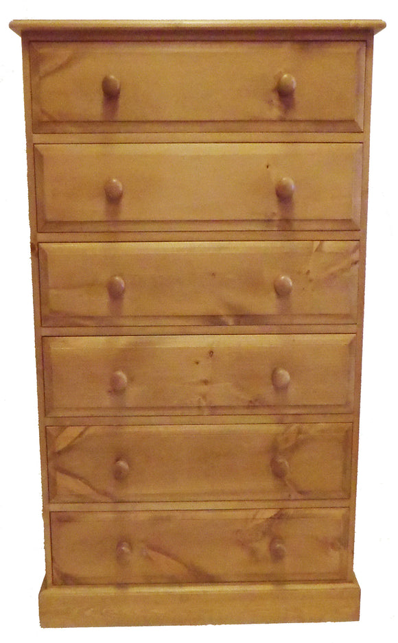 6 Drawer Wide Wellington Chest