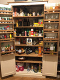 Kitchen Larder Pantry Cupboard (50 cm Deep) - Fully Shelved with Spice Racks ALL SIZE VARIATIONS