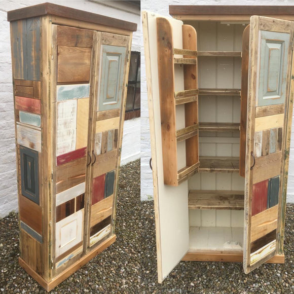 BESPOKE Kitchen Larder Pantry Cupboard with Spice Racks, Reclaimed Timber ONE ONLY