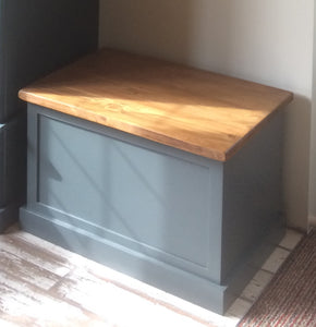 Panelled Storage Box - seat