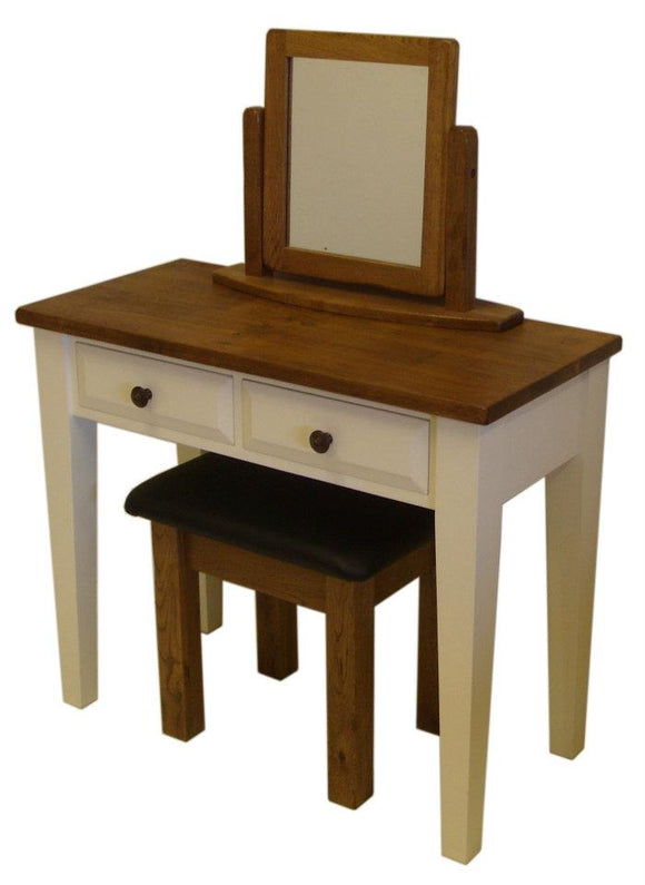 Traditional Solid Pine 2 Drawer Desk / Bedroom Dressing Table