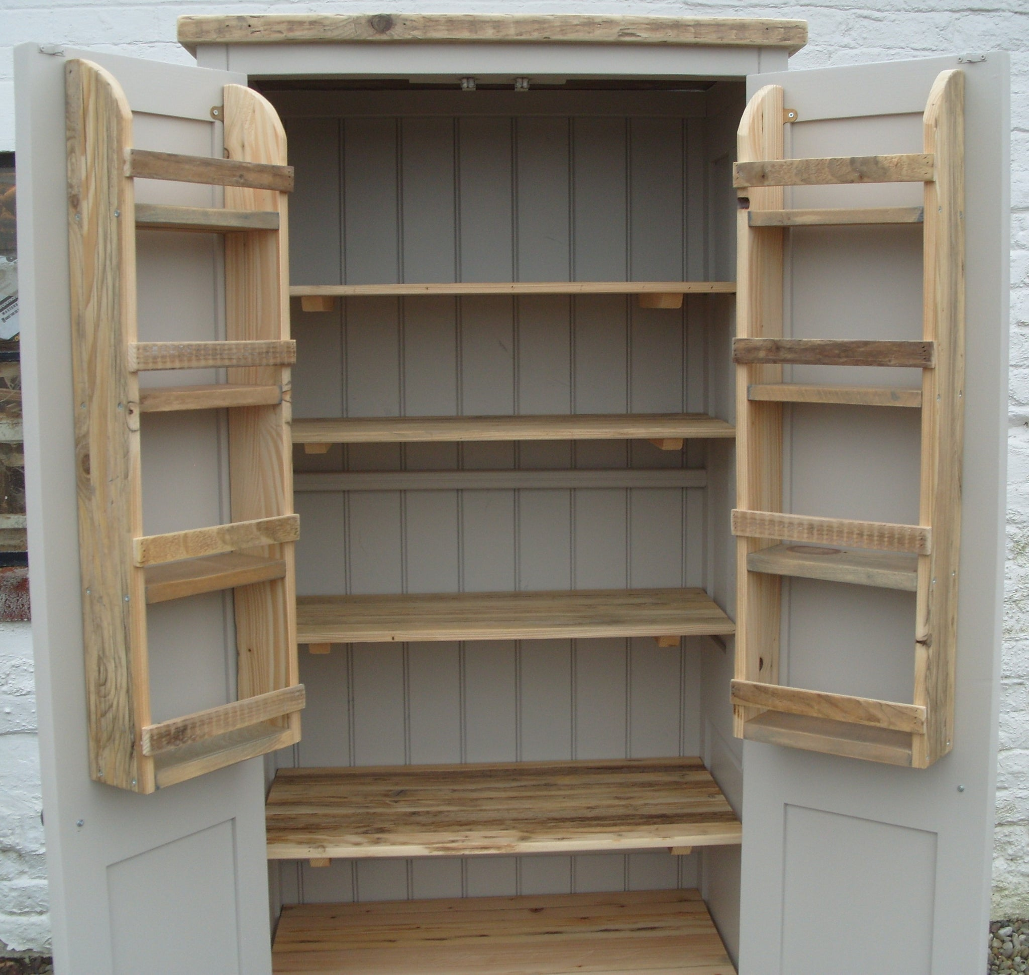 Bespoke Rustic Reclaimed Timber Kitchen Larder Pantry Cupboard Spi Cheshire Pine And Oak