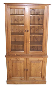 2 Door Glazed Bookcase Display Cabinet